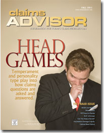Claims Advisor Fall 2011 Issue Cover