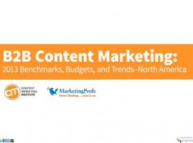 B2B Content Marketing: 2013 Benchmarks, Bugets, and Trends